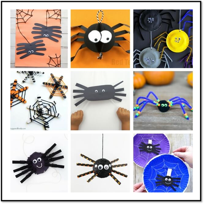image of an assortment of easy ked crafts (spooky cut out spiders and spider webs) - 2 and 3 bedroom handicap apartments in lafayette la