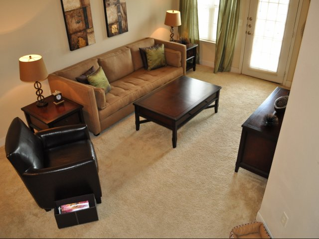 image of a furnished corporate housing apartment at lafayette gardens apartments in lafayette la